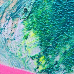 detail of agitation bruyante painting